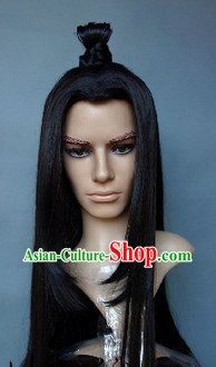 Chinese Young Handsome Men Black Wig