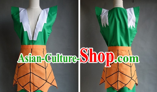 Chinese Cartoon Character Gourd Brothers Costume