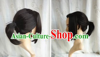 Chinese Classical Black Ponytail for Men