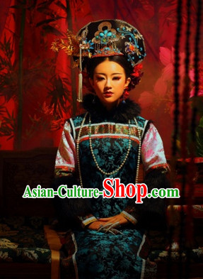 Ancient Chinese Princess Clothes and Headwear Complete Set