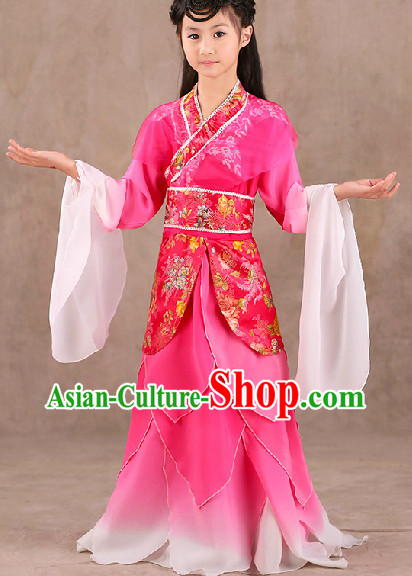 Long Sleeves Classical Dancing Costumes Complete Set for Kids