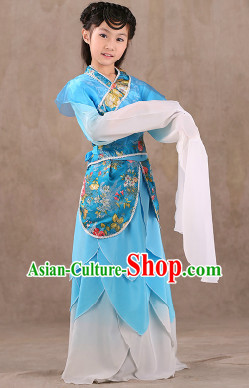 Water Sleeves Classical Dancing Costumes Complete Set for Children