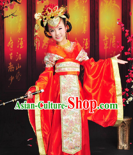 Ancient Chinese Empress Costumes Complete Set for Kids