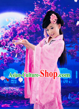 Ancient Chinese Tang Princess Dresses Complete Set for Kids