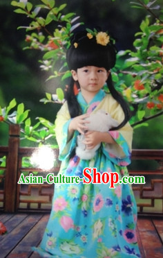 Chinese Traditional Hanfu Dresses for Kids