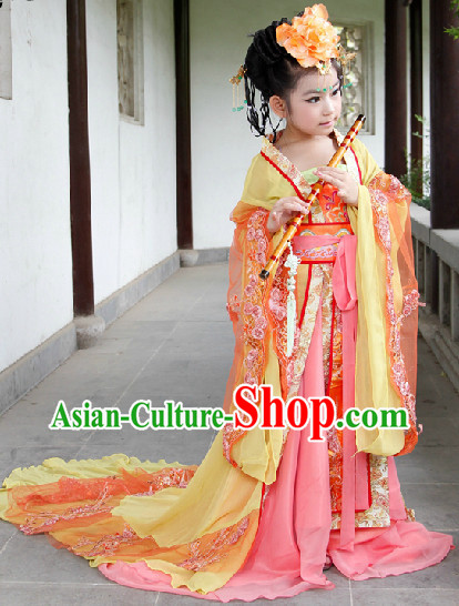 Ancient Palace Imperial Princess Costumes for Kids