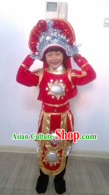 Chinese Legend Character Hua Mulan Heroine Costumes for Students