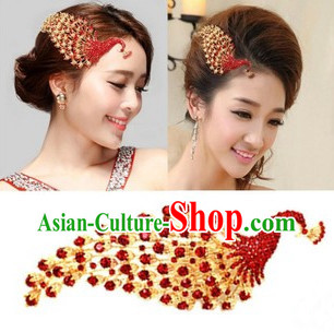 Chinese Classical Wedding Guzhuang Peacock Hair Clasps