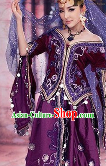 Xinjiang Dance Recital Costumes for Competition