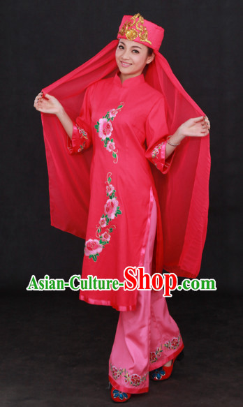 Hui Ethnic Minority Clothing and Headgear Complete Set