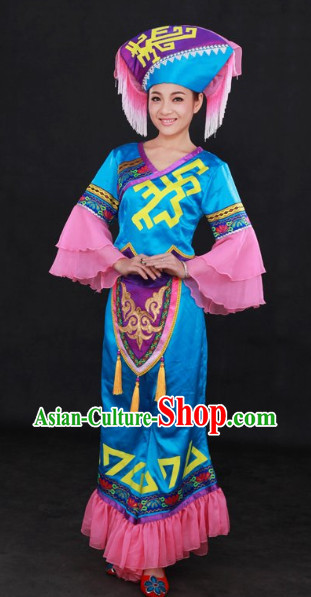 Guangxi Zhuang Minority Festival Celebration Clothes and Hat