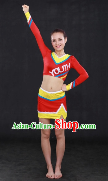 Modern Cheerleader Dance Costumes Complete Set
