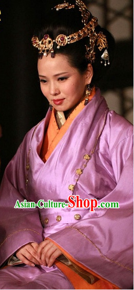 Chinese Empress Traditional Costumes and Hair Clasps Complete Set for Women