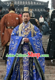 Chinese Emperor Costumes and Coronet Complete Set for Men