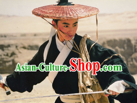 Film Dragon Inn Swordswoman Costumes and Bamboo Hat Complete Set