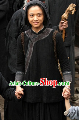 Black Chinese Traditional Costumes for Women