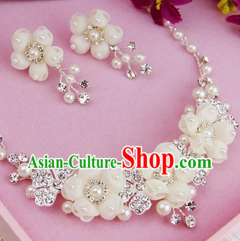 Chinese Classical Wedding Earrings and Necklaces