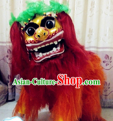 One Person Smiling Beijing Lion Dance Costumes