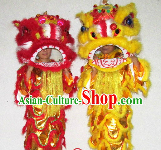One Person Chinese Southern Lion Dancing Costumes Complete Set