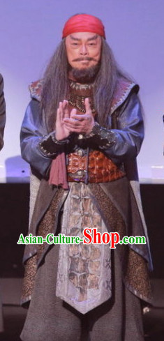 Qing Dynasty Mongolian Cham Costumes Complete Set