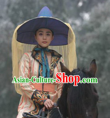 Tang Dynasty Royal Lady Costumes and Headwear Complete Set