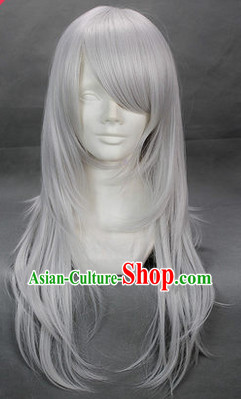 Ancient Chinese White Wig for Men