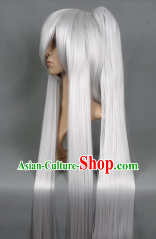 Ancient Chinese White Long Wig
