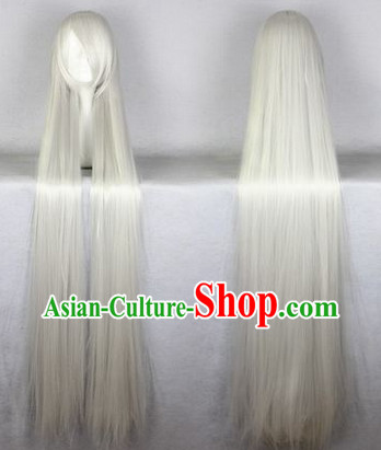 Chinese Classic Grey Hanfu Wig for Men