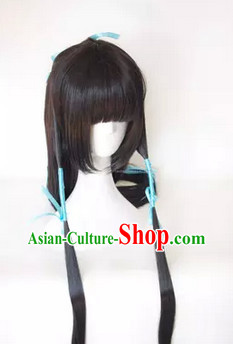 Chinese Classic Black Hanfu Wig for Men