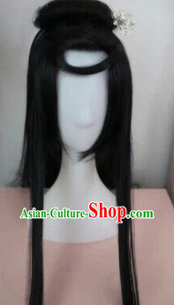 Chinese Classic Black Guzhuang Wig for Men