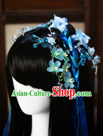 Black Cosplay Fairy Wig and Hair Accessories for Girls