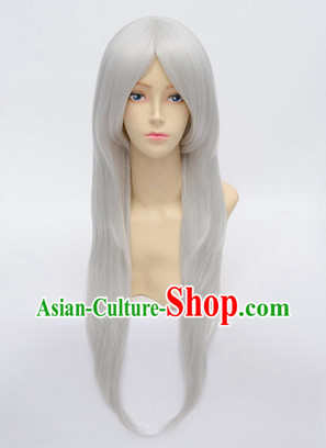 Ancient Chinese Guzhuang Cosplay Long Wig for Men