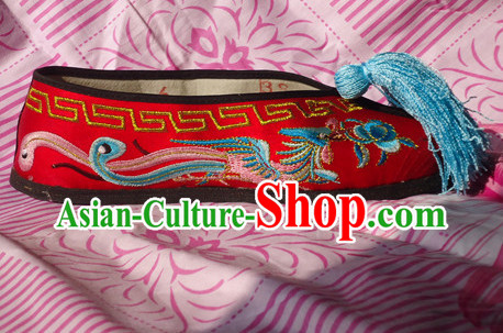 Traditional Beijing Opera Hua Dan Embroidery Phoenix Shoes