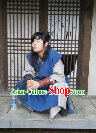 Ancient Korean Warriors Clothing and Headwear for Men