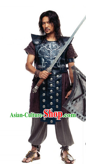 Ancient Korean Knight Armor Costumes Complete Set for Men
