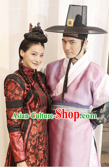 Traditional Korean Husband and Wife Costumes Complete Set
