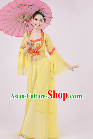 Traditional Classical Dance Costumes and Headwear Complete Set for Women