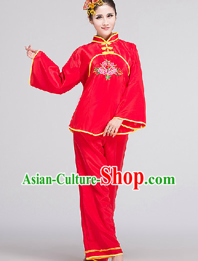 Traditional Dance Costume and Headwear Complete Set for Women 1