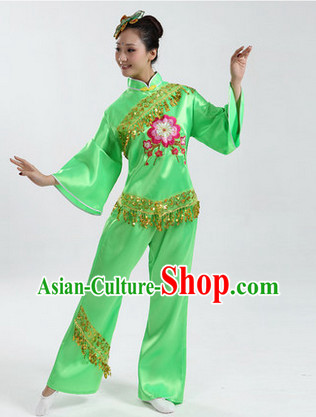 Traditional Asian Dance Costume Complete Set for Women