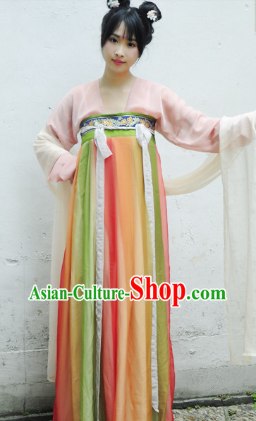 Tang Dynasty Traditional Clothes for Girls