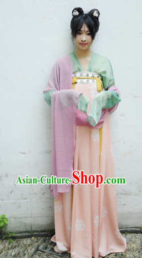 Tang Dynasty Traditional Dresses for Girls