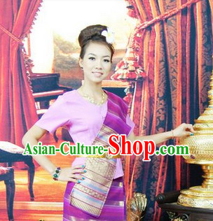 Thailand clothing traditional thai style dresses thailand for Cambodian wedding dresses sale