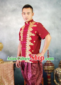 Southeast Asia Traditional Thailand Suit for Men