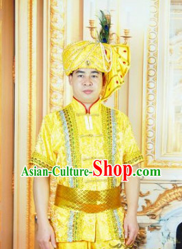 Southeast Asia Traditional Thailand Clothes for Boys