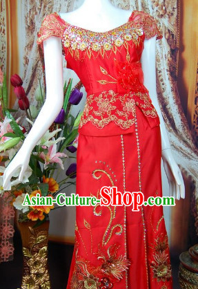 Southeast Asia Traditional Thailand Wedding Suit for Women