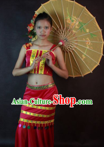 Southeast Asia Traditional Thailand Dance Costumes for Girls