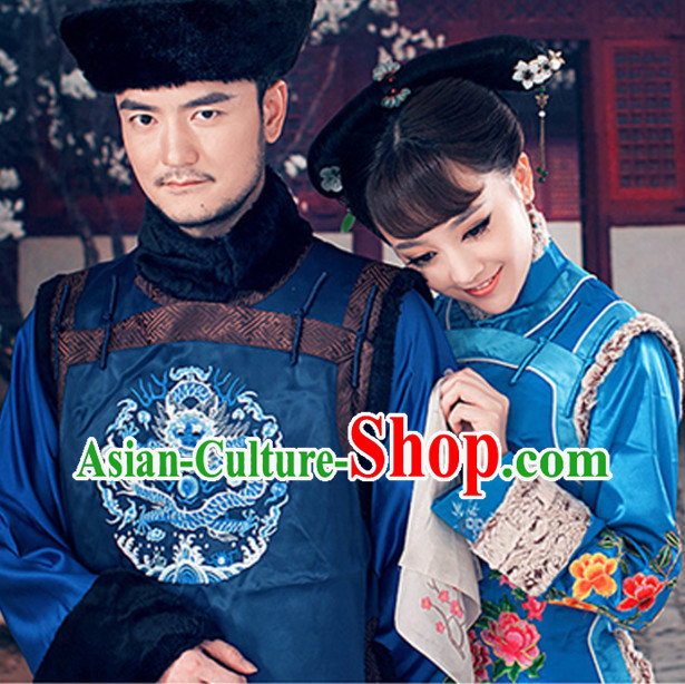 Qing Dynasty Royal Family Son Costumes and Hat