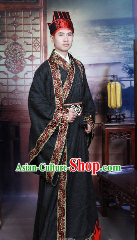 Chinese Traditional Clothing and Hat for Men