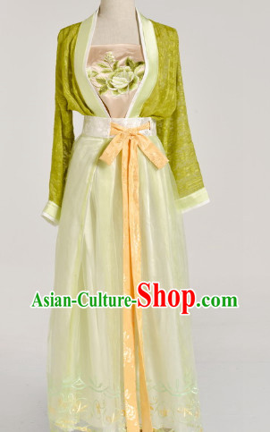 Chinese Black Han Fu Clothes for Women