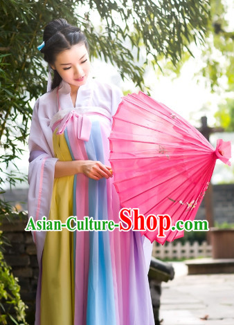 Traditional Chinese Umbrella Dance Costumes for Women